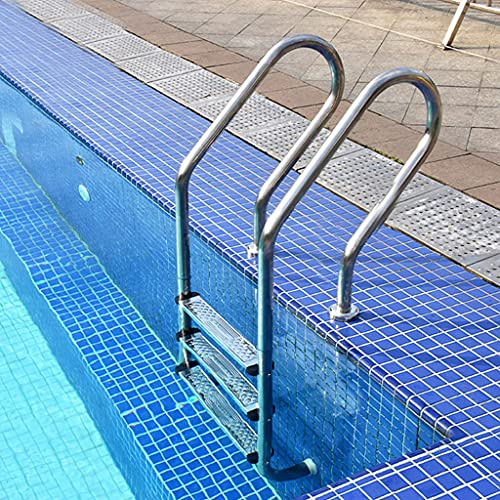 YERT Swimming Pool Ladder, Pool Ladder Stainless Steel Anti-Slip Rust-Proof in Ground Pools Ladder with 3 Step Pedal,Suitable for Open-air Baths