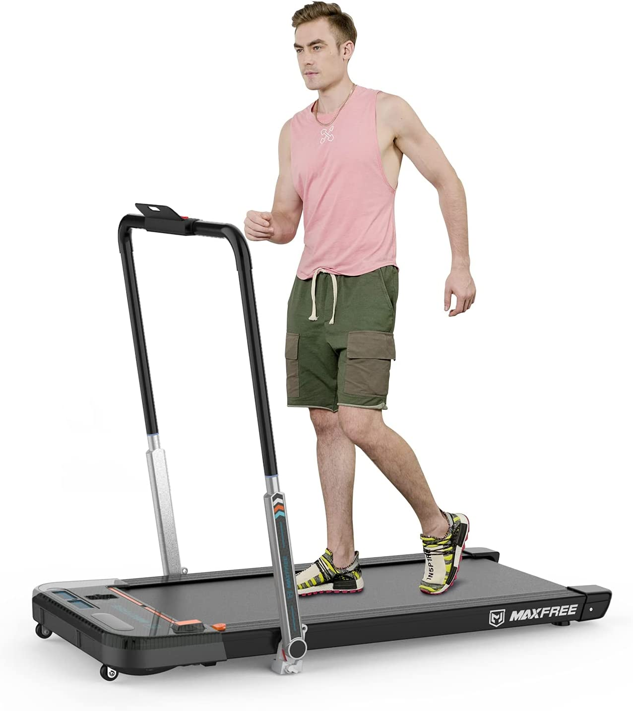 MAXFREE Folding Treadmill 2 in Under Desk Same day shipping Portable 1 2021new shipping free shipping