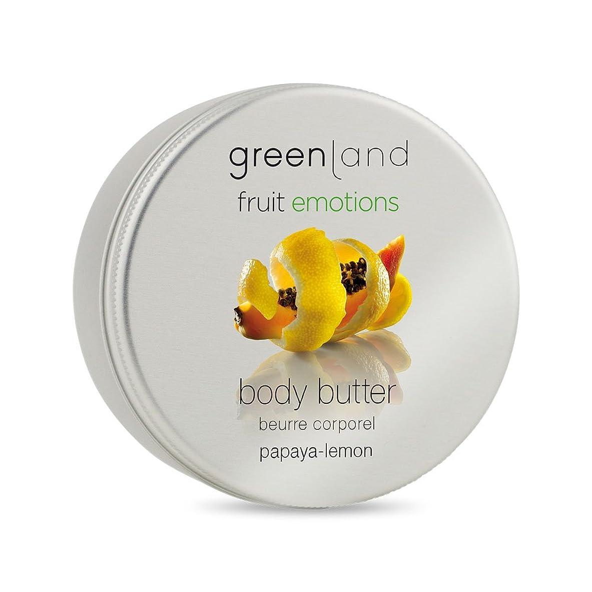 回路偽造greenland [FruitEmotions] ボディバター 120ml パパイア&レモン FE0431