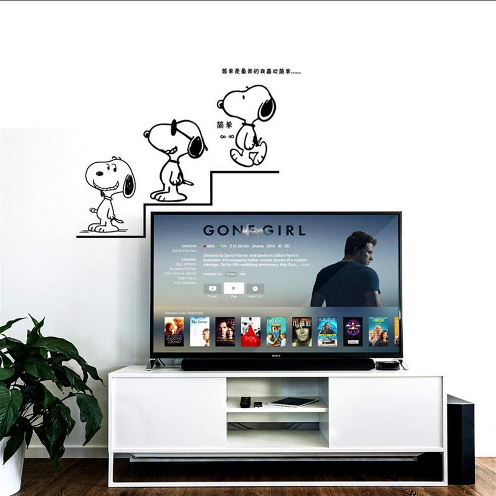 Pegatinas De Pared De Dibujos Animados Snoopy Para Habitaciones De Niños Pegatina Decorativa Etiqueta De Pared De Pvc Extraíble 58X88Cm: Amazon.es: Bricolaje y herramientas
