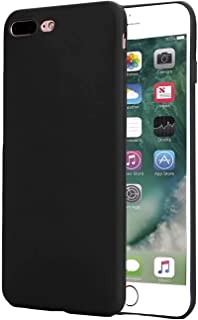 Slim Fit Case Compatible with iPhone 7 Plus / 8 Plus Case, Ultra Thin Mobile Phone Cover Case Anti-Fingerprint Rubber Cover, with Matte Finish Coating Grip, Black