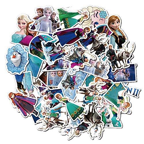 BAIMENG Pegatinas de Graffiti de Dibujos Animados de Rapunzel, Maleta, Taza de Agua, monopatín, refrigerador, Pegatinas para Ordenador portátil, 50 Uds.