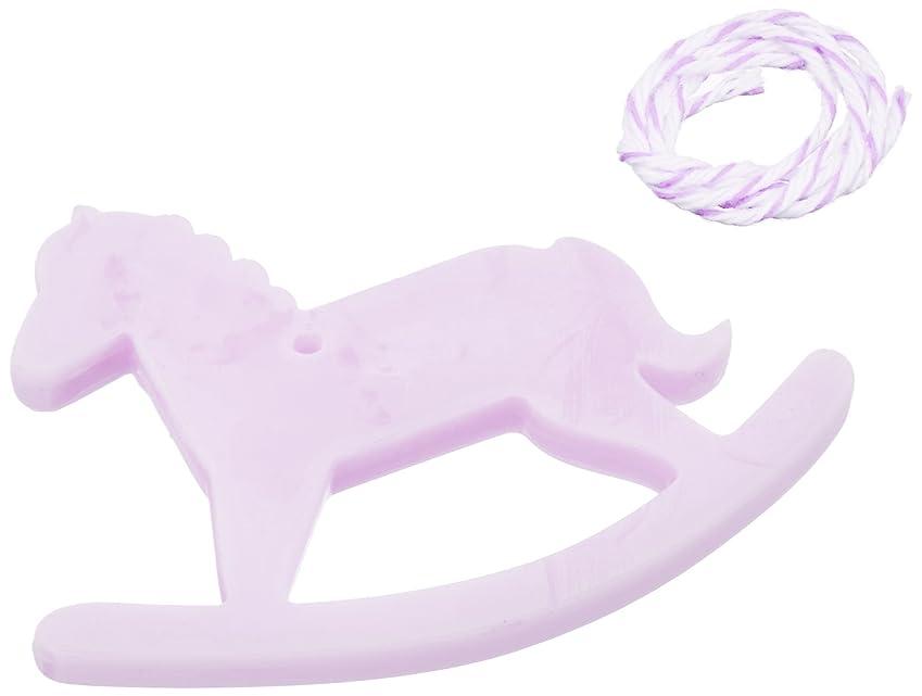 磨かれたトレイとげのあるGRASSE TOKYO AROMATICWAXチャーム「木馬」(PU) ラベンダー アロマティックワックス グラーストウキョウ