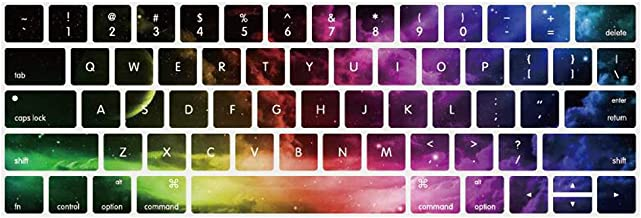 YMIX MacBook Keyboard Cover for 2016 2017 2018 Pro 13 Pro 15 Inch with Touch Bar, Washable Silicone Keyboard Skin for Pro 13 (A1706 A1989) & Pro 15 (A1707 A1990) with Touch Bar - Nebula