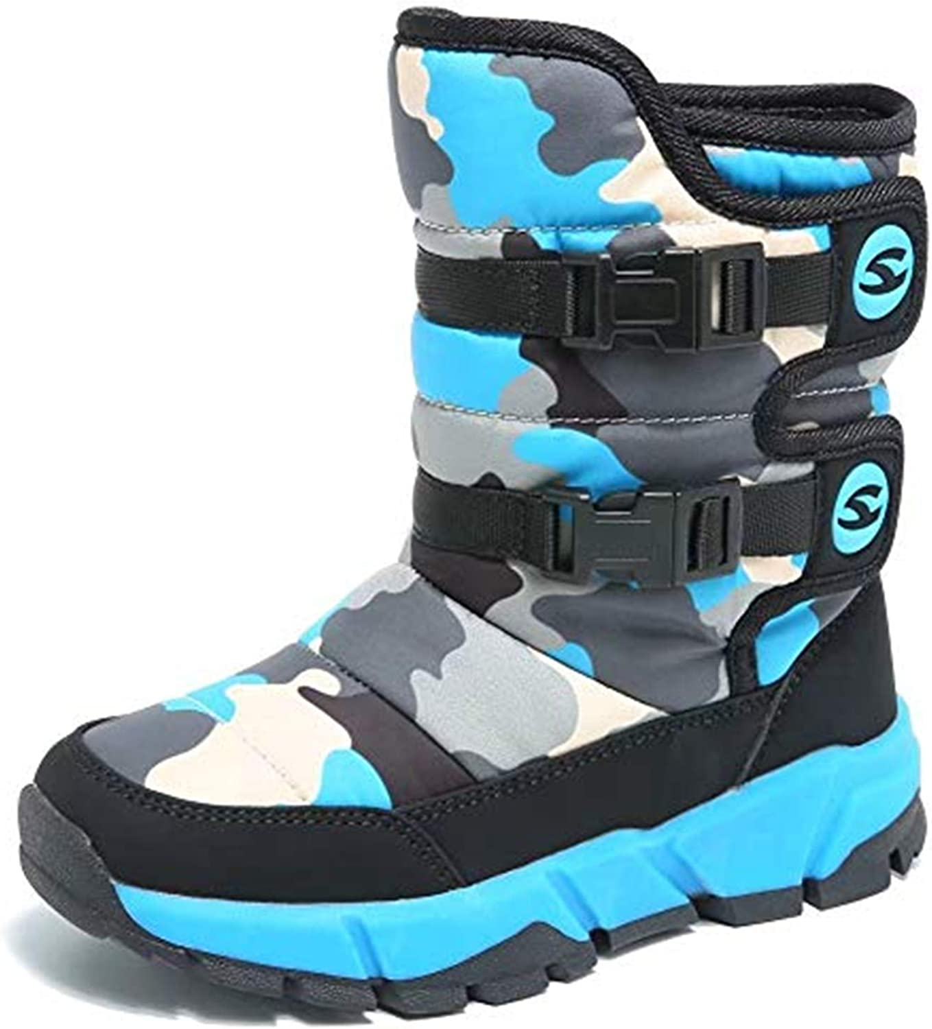 JACKSHIBO Girls Challenge the lowest price Boys Outdoor Waterproof Inventory cleanup selling sale Boots Snow Winter Toddle