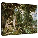ArtWall Pieter Bruegel 'The Garden of Eden with The Fall of Man' ギャラリーラリー キャンバスアート 32×48インチ
