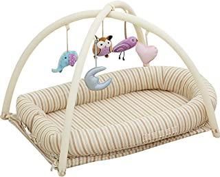 Newborn and Baby Recliner, Portable Baby Cradle Breathable Sleeping Crib, Cotton Portable Crib for Bedroom and Travel 0~24...