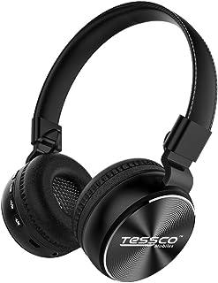 Tessco BH-390 Stereo Wireless Bluetooth Headphones Over The Ear, Lightweight Design, 360 Surround Sound HiFi - Black