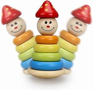 木製 キャラクター だるま ゆらりん タワー 棒さし ゆらゆら ベビー 幼児 知育玩具
