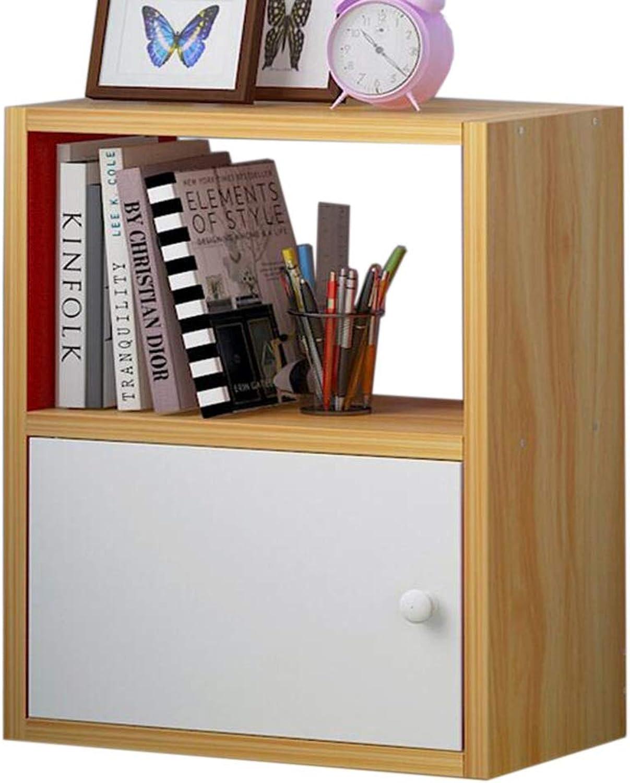 JCAFA Shelves Bookshelf Multi-Function Storage Cabinet Free Combination Storage Bookshelf Wooden Bookcase, 2 Stories, 3 Stories (Size   15.74  9.44  21.06in)