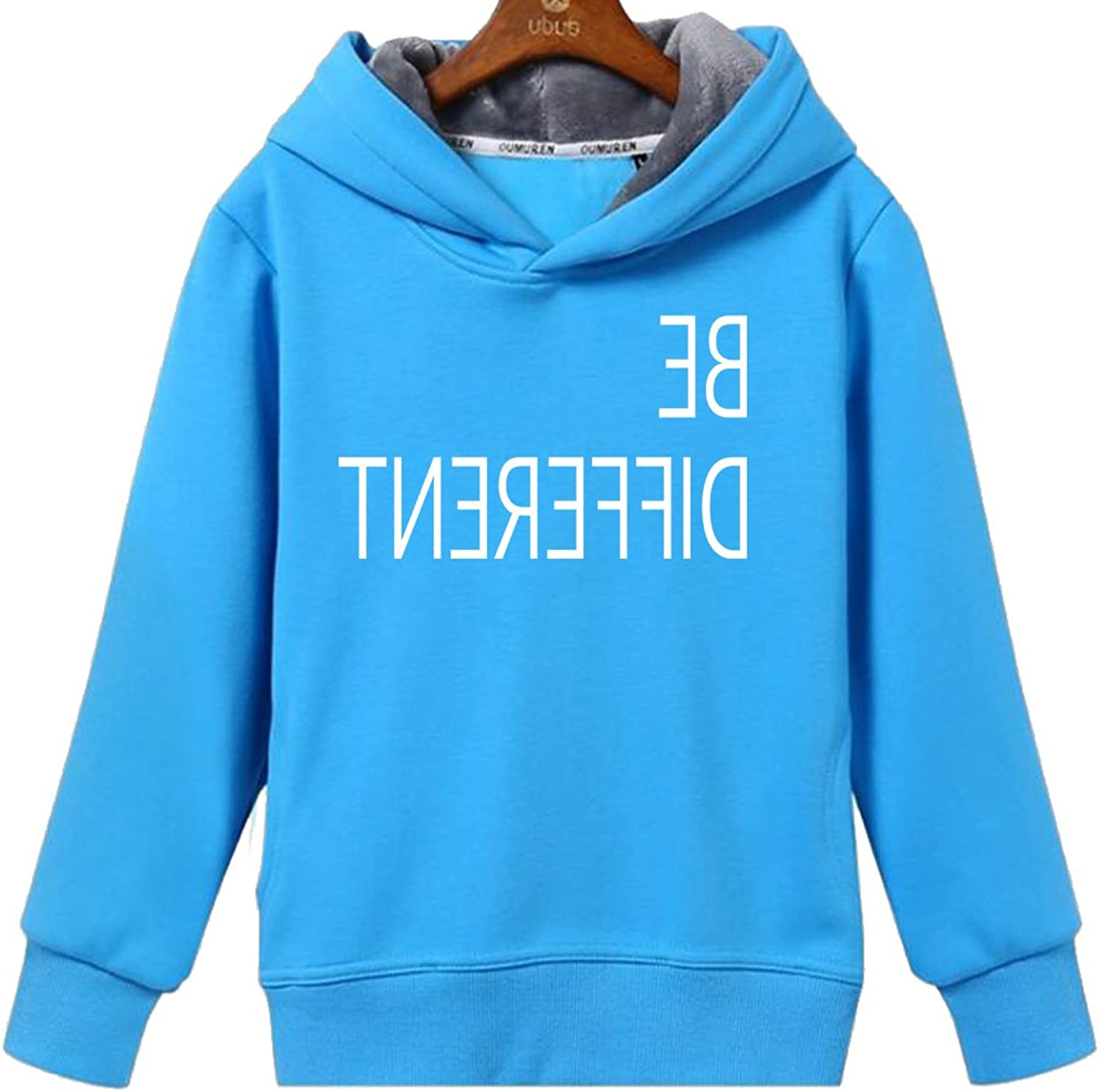 CINFAN Women's Funny Quote Be Different Unique Look Hoodie with Pockets
