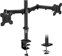 BONTEC monitorstandaard voor 2 monitoren, zwenkbaar, kantelbaar, in hoogte verstelbaar, monitor, bureau, monitorstandaard,...