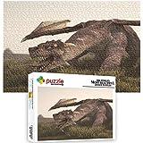Generichaoge Juego De Rompecabezas Dinosaurio Dragón Volador Fantasía Animal 1000 Piezas Puzzle 4 Años para Adultos Educa De Alta Definición 75 X 50 Cm