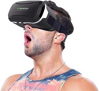 VRSHINECON Gafas de Realidad Virtual 3D - Gafas virtuales y teléfonos Inteligentes Gafas de Realidad Virtual de la Pantall...
