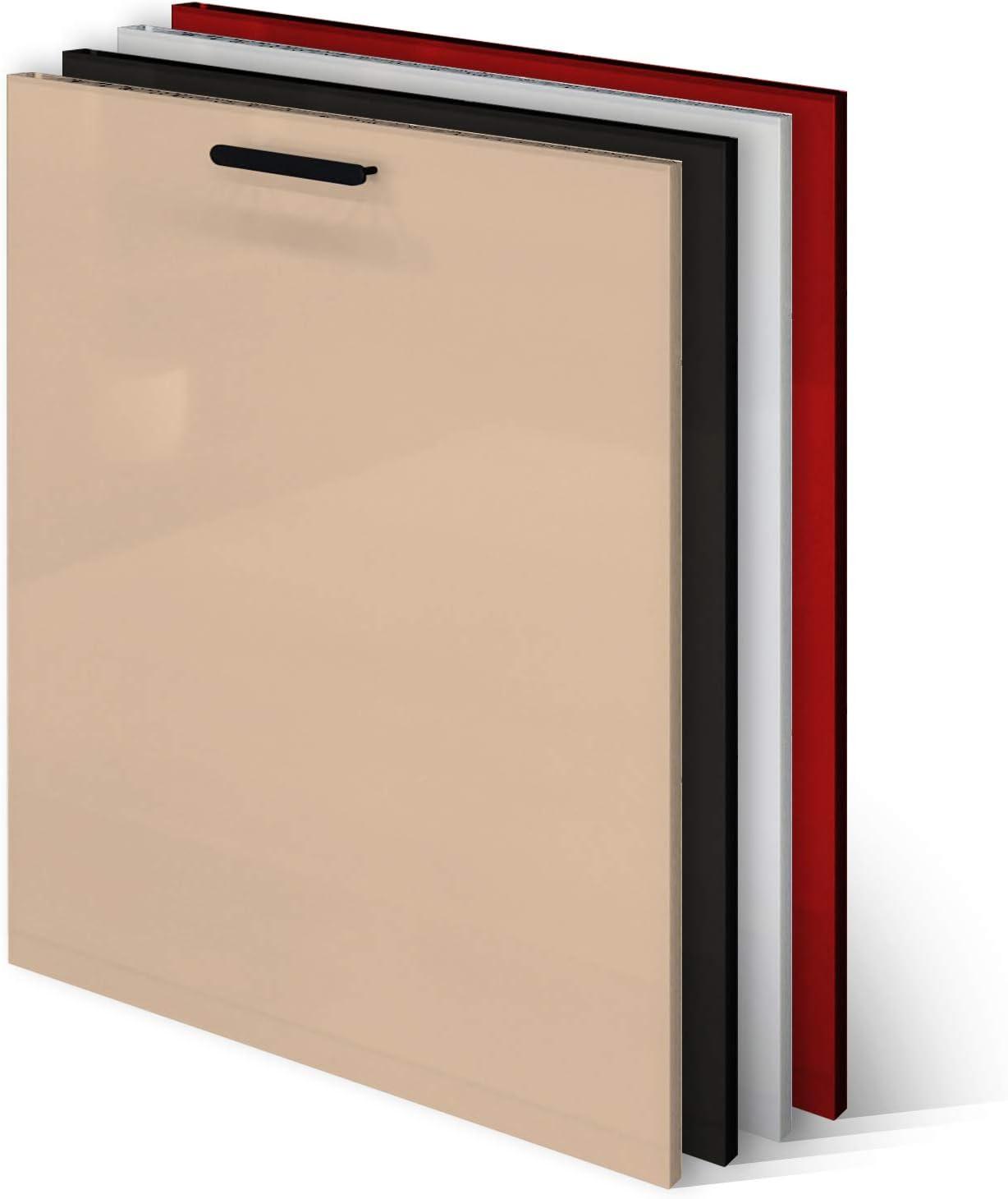 KLEMP Panel frontal para lavavajillas, 594 x 565 mm, Cappucino, panel para lavavajillas totalmente integrado