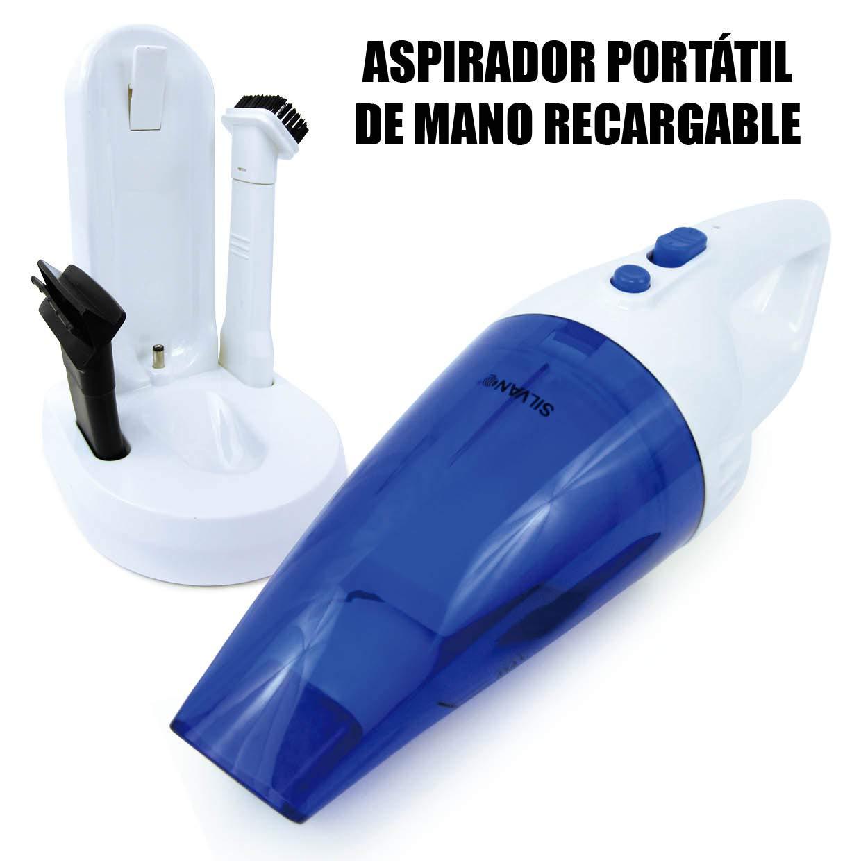 SILVANO Aspirador portátil de Mano | Inalámbrico | Recargable ...