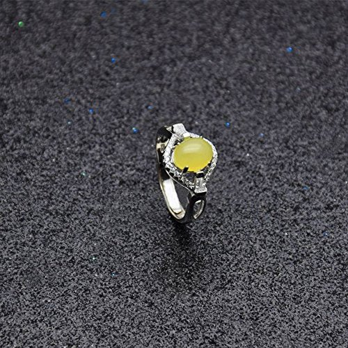 Retro Opening Natuurlijke Topaas Piet Ring Vrouwelijke 925 Sterling Zilver Sieraden Ring Diamanten Ring Vrouwelijke Sieraden Nationale Stijl Geometrische Micro Inlay Vrouwen Sterling Zilver Inlaid Edelsteen 925 Zilver, Topaas ring, Opening verstelbaar