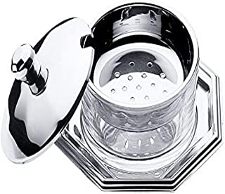 Mepra butter-dishes, Silver