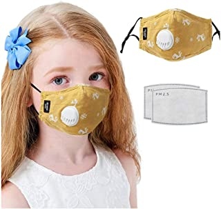 WIWN Kids Face 𝓂𝒶𝓈𝓀 Cartoon Fawn Washable Reusable Face Maks with Filter Detachable Eye Shields, Dustproof and Breatha...
