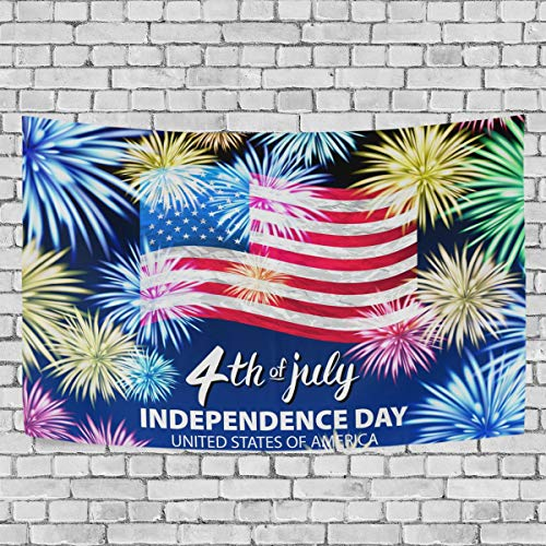 Baofu Independence Day 4th of July Tapestry Wall Hanging Tapestries Hippie Psychedelic American Flag...