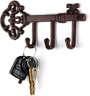 LULIND - Wall Mounted Rustic Key Holder (Vintage Cast Iron)