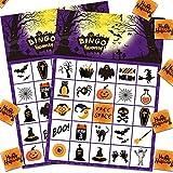 AETOK Tarjetas de juego de bingo de Halloween para niños 24 jugadores, juego de fiesta de Halloween para el aula de la escuela Actividades familiares Halloween Party Favors Suministros