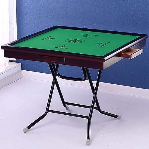 NuoEn Mahjong-Tisch, Poker, Kartenspiele, Brettspiele, Kachelspiele, Domino, Pokertisch aus Holz (Farbe   90cm solid wood 1)