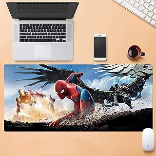 Mopoq Spider-Man: Homecoming tapete de mesa de gran tamaño para juego de ratón, teclado, alfombrilla de silicona para orde...