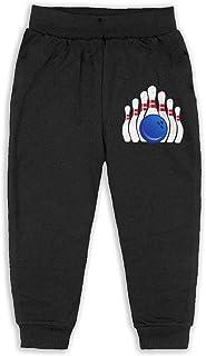 TWPDA Cool Bowling Toddler Fashion Sweatpants Jogger Pants Boys Girls Sports Trousers 2-6T