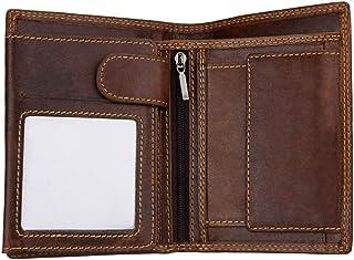VALICLUD 1pc Vintage Leather Men Wallet RFID Blocking Bifold Flip ID Wallet Multifunction Wallet (Coffee)