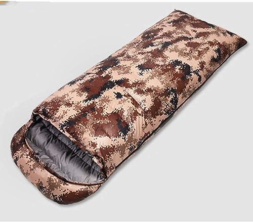 LEEPY Sac de Couchage de Camouflage de Camping en Plein air, Sac de Couchage léger et épaississant imperméable à l'eau pour Adultes voyageant dans l'équipement de Vitesse du désert de Camping