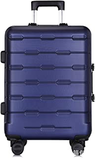 "SRY-Luggage ABS + PC Durable Convenient Trolley Case, Aluminum Frame Business Travel Pull Box, Wheeled Travel Rolling Boarding, 20"" 24"" Inches Carry on Luggage (Color : Royal Blue, Size : 25inch)"