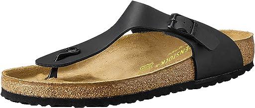 Birkenstock Unisex Adults' Gizeh Sandals, Black, 40 EU