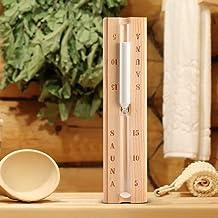 Sablier de sauna en bois 15 minutes accessoire d'horloge de compte à rebours de minuterie de sable pour la salle de spa de...