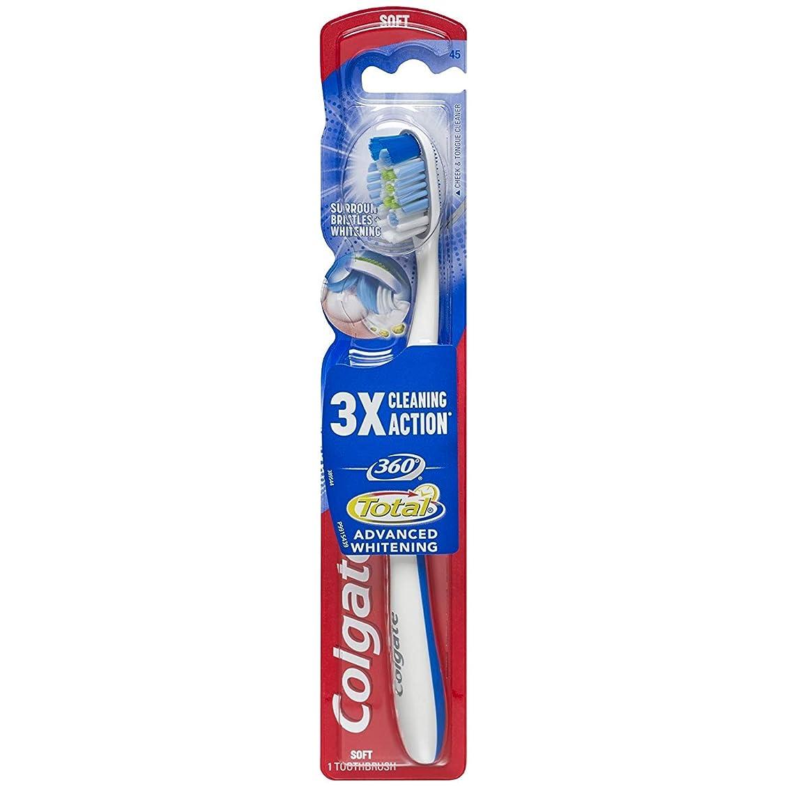 ピルファー減衰抑制Colgate 360合計アドバンスト完全な頭部歯ブラシ、ソフト(5パック)