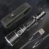 ORCATORCH T30 Linterna Táctica Militar Policía USB Lámpara Recargable