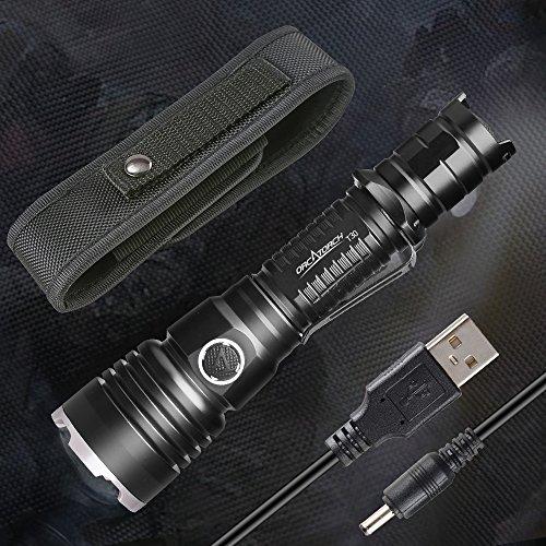 ORCATORCH T30 970lumen LED Taschenlampe IP68 Wiederaufladbar Handlampe für gehende Hundeschutzwachen