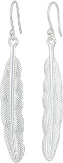 Lucky Brand Feather Drop Earrings