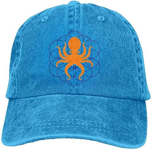 Baseball Jeans Cap Psychedelic Sacred Geometry Octopus-2 Men Golf Hats Adjustable Dad Hat HJASKJDSNAHIWQASD 8649
