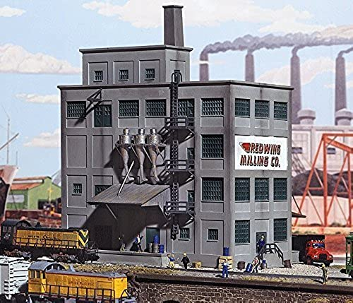 N Scale rouge Wing Milling Co. -- Kit - 6-5 8 x 4-7 8  16.5 x 12cm by Walthers