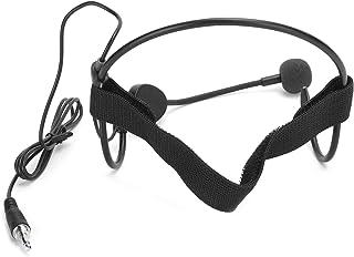Socobeta Öronkrok mikrofonkondensator 3,5 mm plug-in-headset-mikrofon bärbart pannband för kraftundervisning