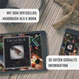SCHWARTZHIRSCH® Excalibur – Das handgefertigte Kochmesser aus japanischem Damaststahl mit erlesenem Echtholz-Griff in exklusiver Walnußholz-Schatulle (20cm, Innovative Ergonomie, Geschenkverpackung) - 7