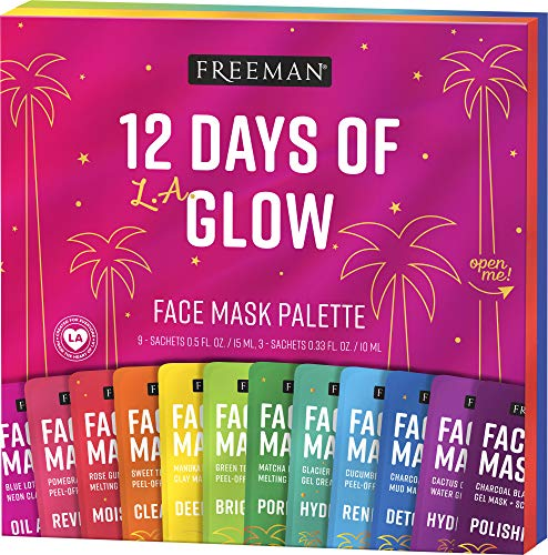 Freeman Glow On 12 Days of Glow Mini Maske Adventskalender Geschenk-Set