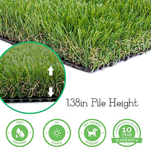 Realistic Thick Artificial Grass Turf - 3FTX8FT(24 Square FT) Indoor Outdoor Garden Lawn Landscape Synthetic Grass Mat