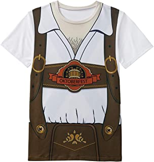 Funny World Men's Bavarian Oktoberfest Costume T-Shirts