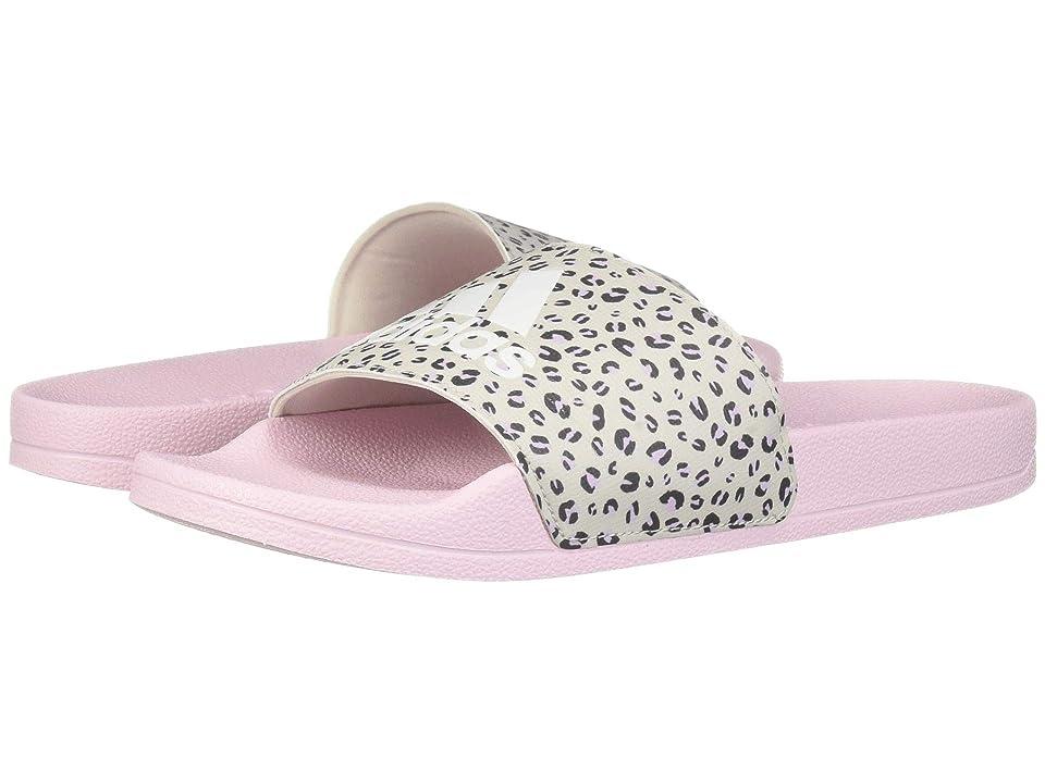 adidas Kids Adilette Shower Slide (Toddler/Little Kid/Big Kid) (Aero Pink/Footwear White/Raw White) Girls Shoes