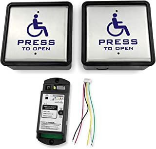 Olideauto Handicap Wireless Push Switch with two pcs push panels and one receiver