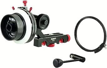 FILMCITY HS-2 Professional Hi-Grade Follow Focus with A/B Hard Stops, Flexible Gear Belt & Speed Crank | for 15mm Rod Support & DSLR Video Camera Stabilizer Shoulder Rig (HS-2)