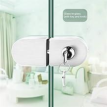 Deurslot Roestvrijstalen glazen deurslot Anti-diefstal beveiligingsslot met frameloze push schuifpoortslot geborsteld met ...