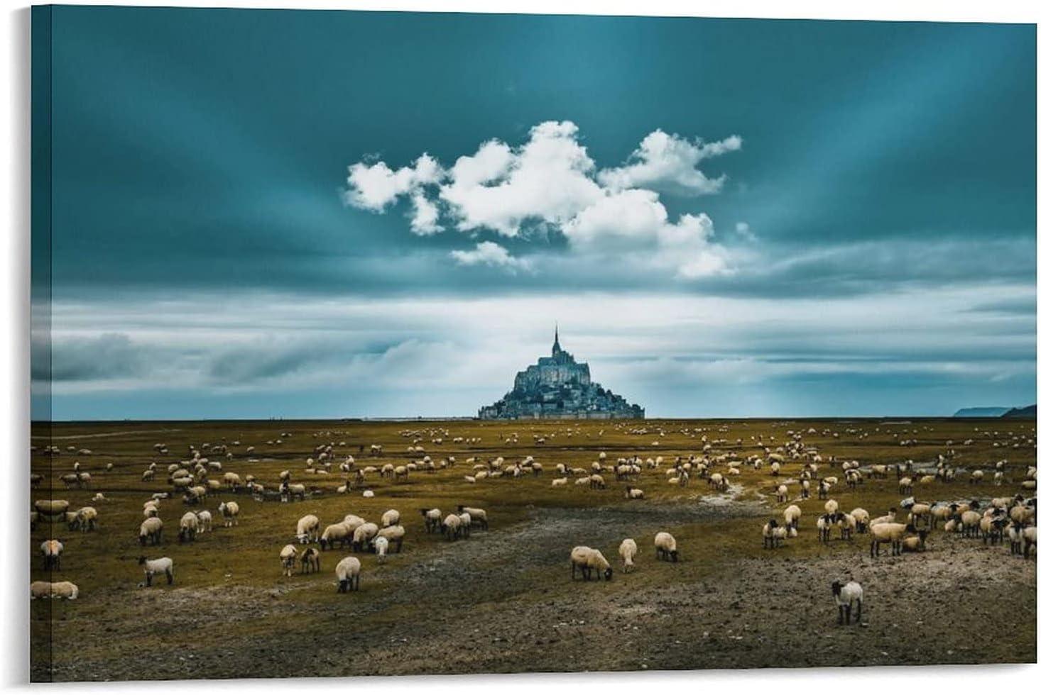 ABEPC Mont Saint Max 43% OFF Michel Landscape Decorative Poster Zh010 Excellence